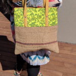 Jute Tote Bag - Neon Yellow