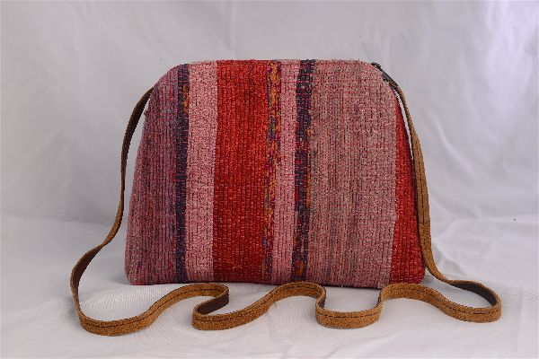 Rag Rug Cross Body Bag - Pink Shades