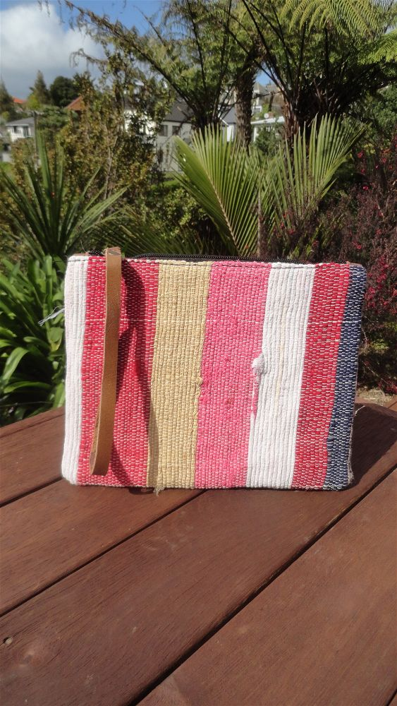 Rag Rug Toiletry Bag - Vertical Stripe